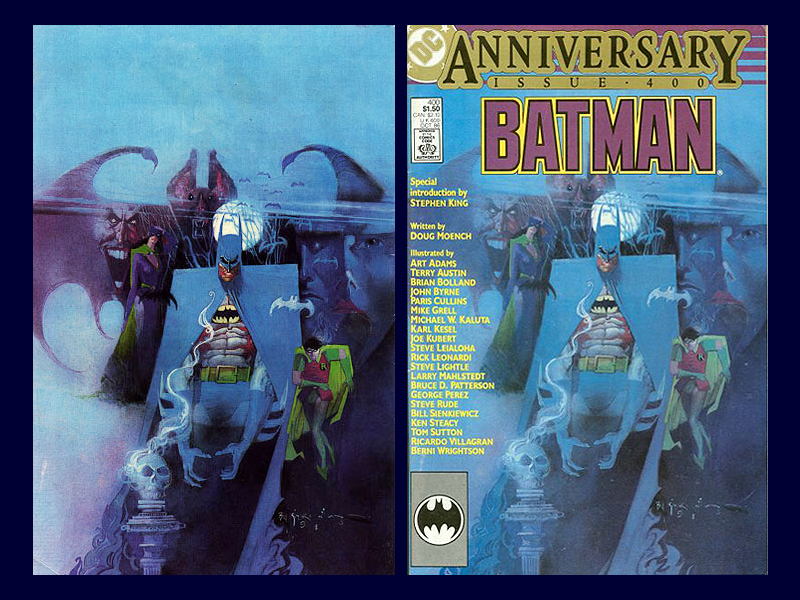 Back and Front Covers of Batman 400
