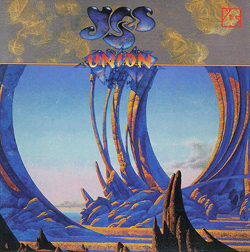 "Roger Dean's cover art and logo for Yes' 1991 ""Union"" album"