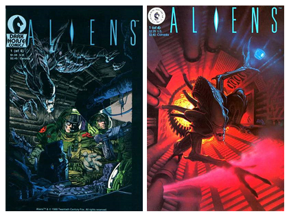 First issues of Dark Horse's first two Aliens mini-series, which were published from '88 - '89