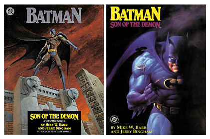 Hardcover and Softcover editions of 1987's Batman: Son of the Demon.