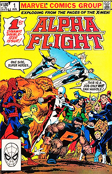 Tony picked up Alpha Flight issue 1 off the rach, prompted by a Marvel house ad within Sta Wars.