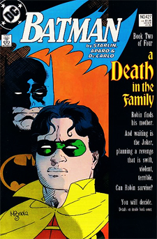 "Batman 427 included the ""Vote!"" numbers, for the Jason Todd Robin to live or die!"