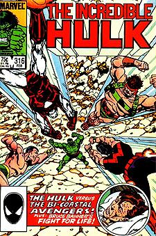 Tony owns the original John Byrne art for the Hulk 316 cover.
