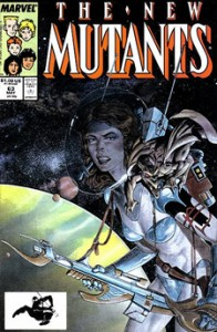 Carl Potts' cover for New Mutants 63.