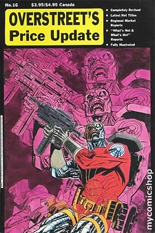 Overstreet's Price Update issue 16, from February 1991. Marvel's Deathlok was featured on the cover.