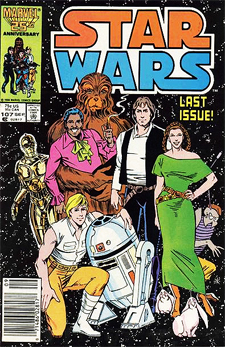 Final issue of Marvel's Star Wars title, from 1986.