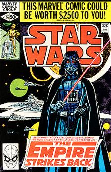 Marvel's Star Wars issue 39 begun their Empire Strikes Back adaptation.