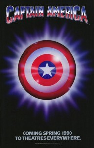 1990 Captain America Movie Poster.