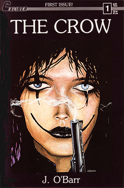 The Crow's debut in 1989, published by Caliber.